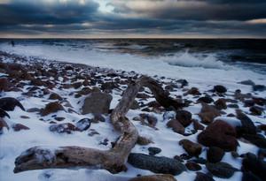 Beautiful Baltic sea landscape at winter.