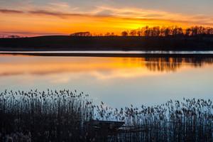 Beautiful polish lake landscape