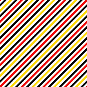 Mickey Mouse Pattern Of Red, Black, Yellow, And White Diagonal Stripes
