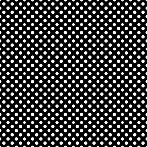 Mickey Mouse Pattern Of White Polka Dots On A Black Background