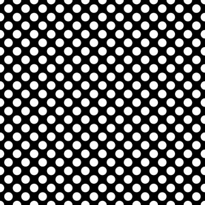 Pattern Of White Polka Dots On Black Mickey Paper