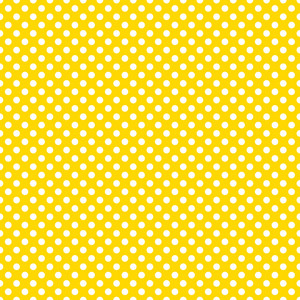 Mickey Mouse Pattern Of White Polka Dots On A Yellow Background