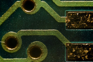 Micro Photo Of A Board