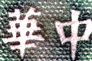Micro Photo Of A Stamp