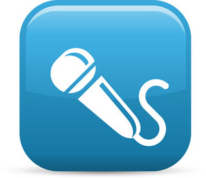 Microphone Elements Glossy Icon