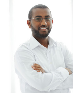 Middle Eastern Arabic black man