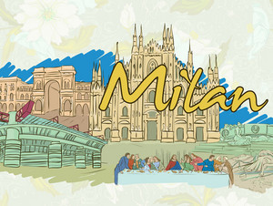 Milan Doodles Vector Illustration