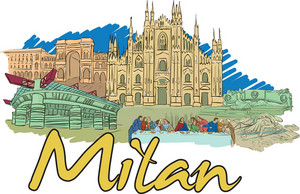 Milan Vector Doodle