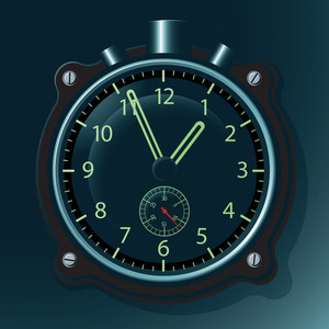 Military Clock. Vector.