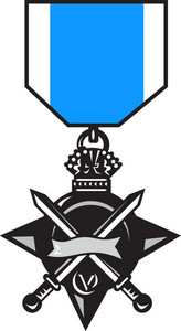 Military Medal Of Bravery Crossed Swords