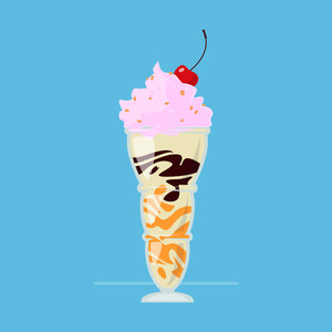 Milkshake Vector Illustration.