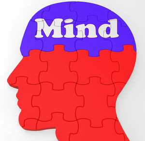 Mind Profile Shows Thoughts Ideas And Brainstorming