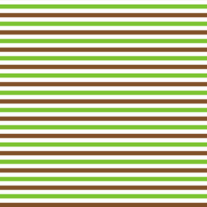 Green, Brown, And White Striped Minecraft Pattern