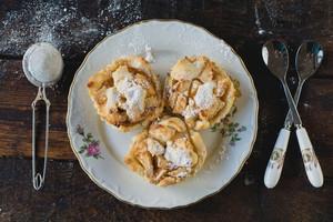 Mini Apple Pies On Plate