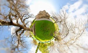 Miniature Globe With Panagia Angeloktisti Church On Top. Cyprus