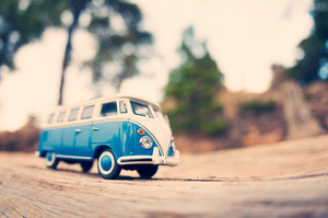 Miniature Travelling Vintage Van