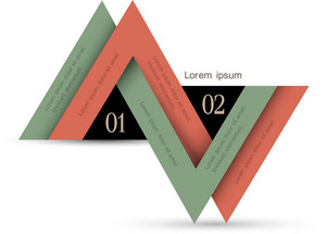 Minimal Infographics Design With Triangles
