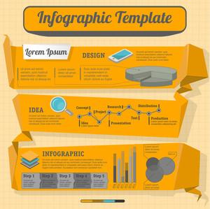 Minimal Monochrome Vector Infographic Template.