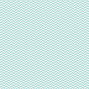 Mint Blue And White Chevron Pattern