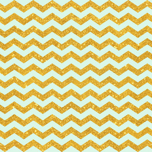 Pattern Of Mint Blue And Gold Glitter Chevrons