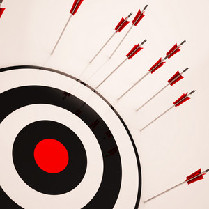 Missed Target Shows Failure Unsuccessful Aim