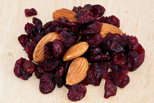 Mix Of Raisins And Almond Nut