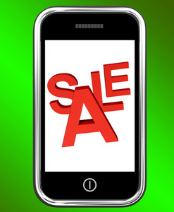 Mobile Phone Sale Screen Shows Online Discounts