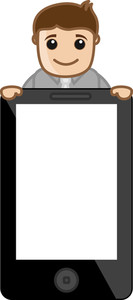 Mobile Phone Tablet Device Blank - Business Cartoon