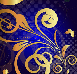 Moder Golden Floral Background