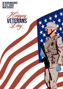 Modern American Veteran Soldier Greeting Card