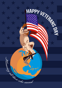 Modern American Veterans Day Greeting Card