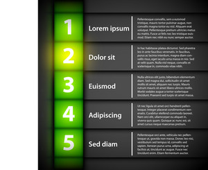 Modern Business Template For Presentations Or Web Design. You Can Move Yellow Gradient To Highlight Different Options.