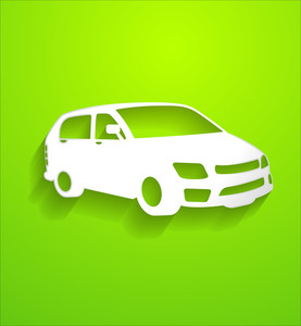 Modern Car Vector Shape