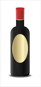 Modern Champaign Bottle