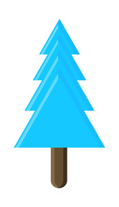 Modern Christmas Tree Shape