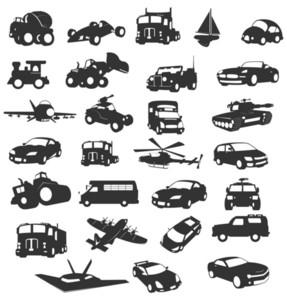 Modern City Vehicles Shapes