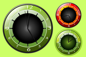 Modern Clocks Vector