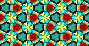 Modern Decor Kaleidoscope Pattern