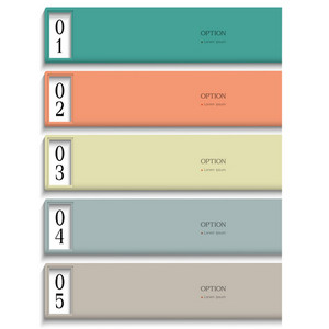 Modern Design Template In Pastel Colors