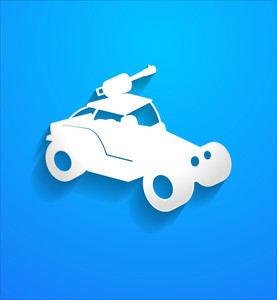 Modern Fighter Car Vector Shape