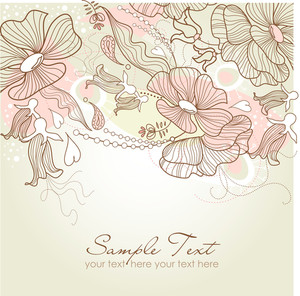 Modern Floral Background
