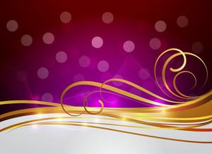 Modern Golden Wavy Flourish Design