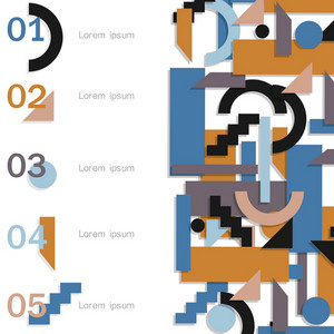 Modern Infographic Design Template - Futuristic Style
