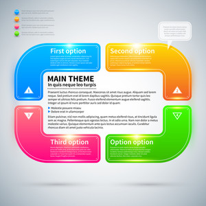 Modern Infographics Layout With 4 Colorful Options.