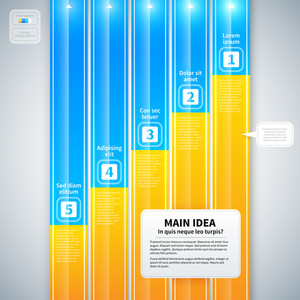 Modern Infographics Layout With 5 Vertical Banners.