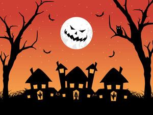 Modern Pattern Halloween Background