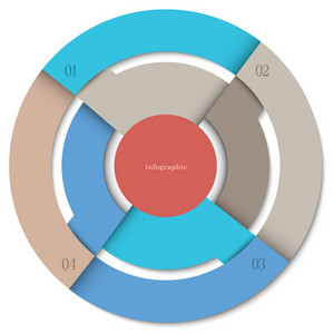 Modern Round Design Template For Infographics