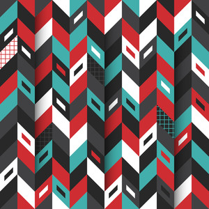 Modern Seamless Pattern With Colorful Shapes