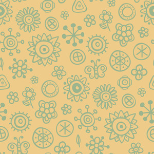 Modern Seamless Pattern With Colorful Squares. Eps10.