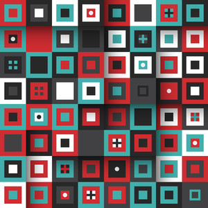 Modern Seamless Pattern With Colorful Squares